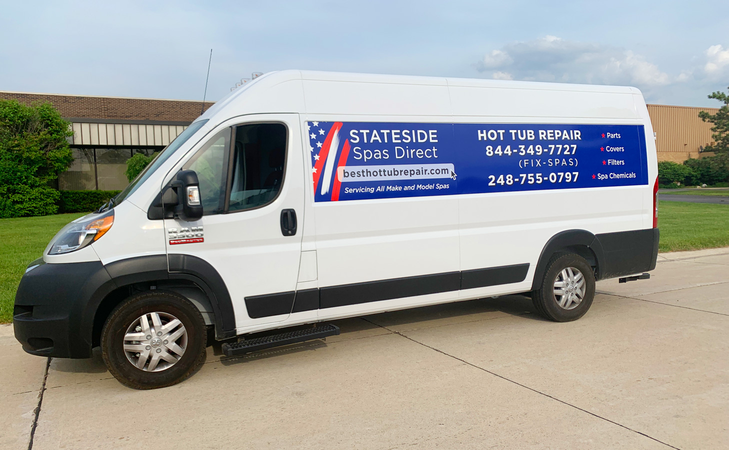 Spa Van Vehicle graphics