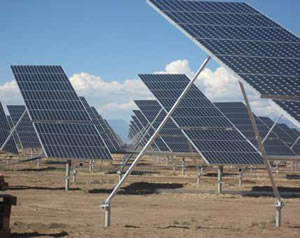 Solar Panels with Helical Piles