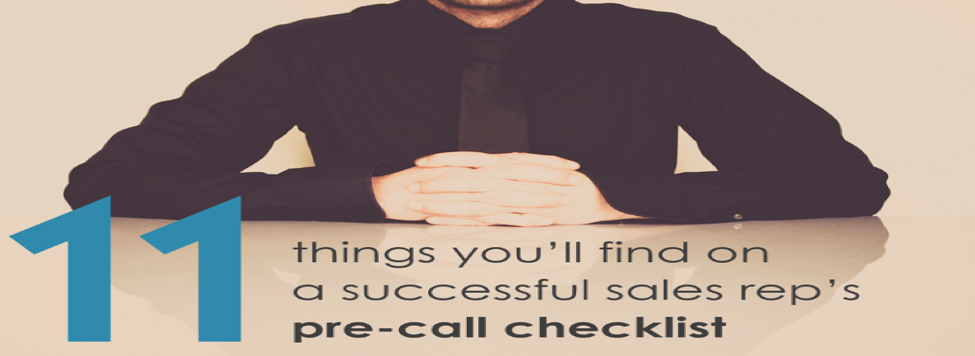 Sales Call Check List: What Every Seller Should Consider Before a Call!