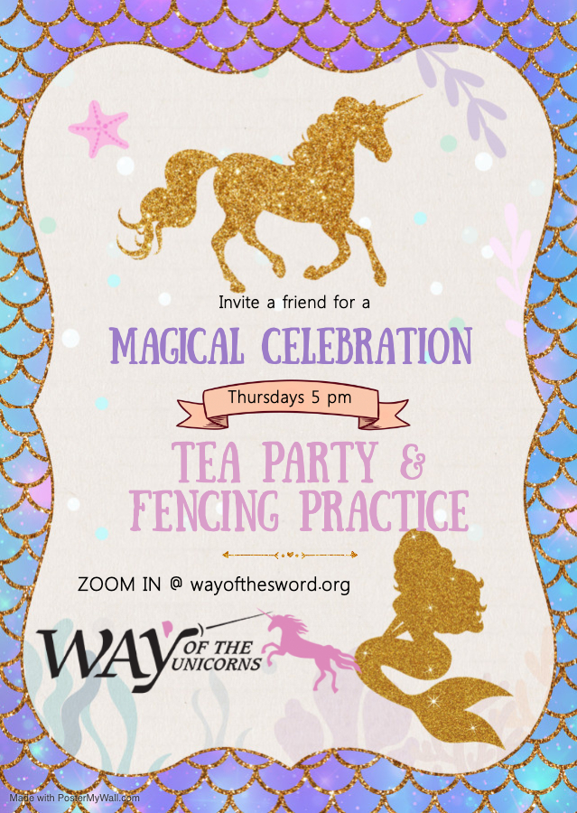 Copy of Mermaid and unicorn birthday invitation - Made with PosterMyWall