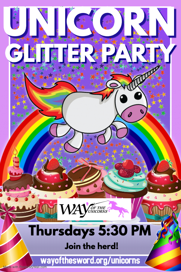 WAY Unicorn Glitter party - Made with PosterMyWall