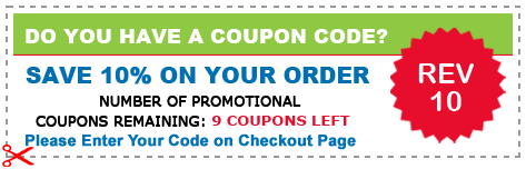 REDEEM OUR COUPON CODE GET 15% OFF YOUR ORDER  (REV10)