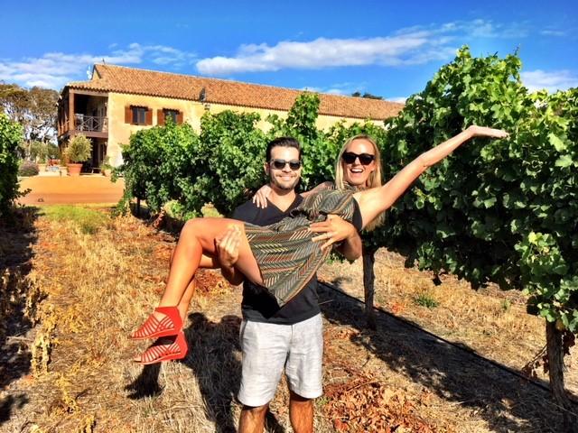 Art Jenn in the vineyard pic