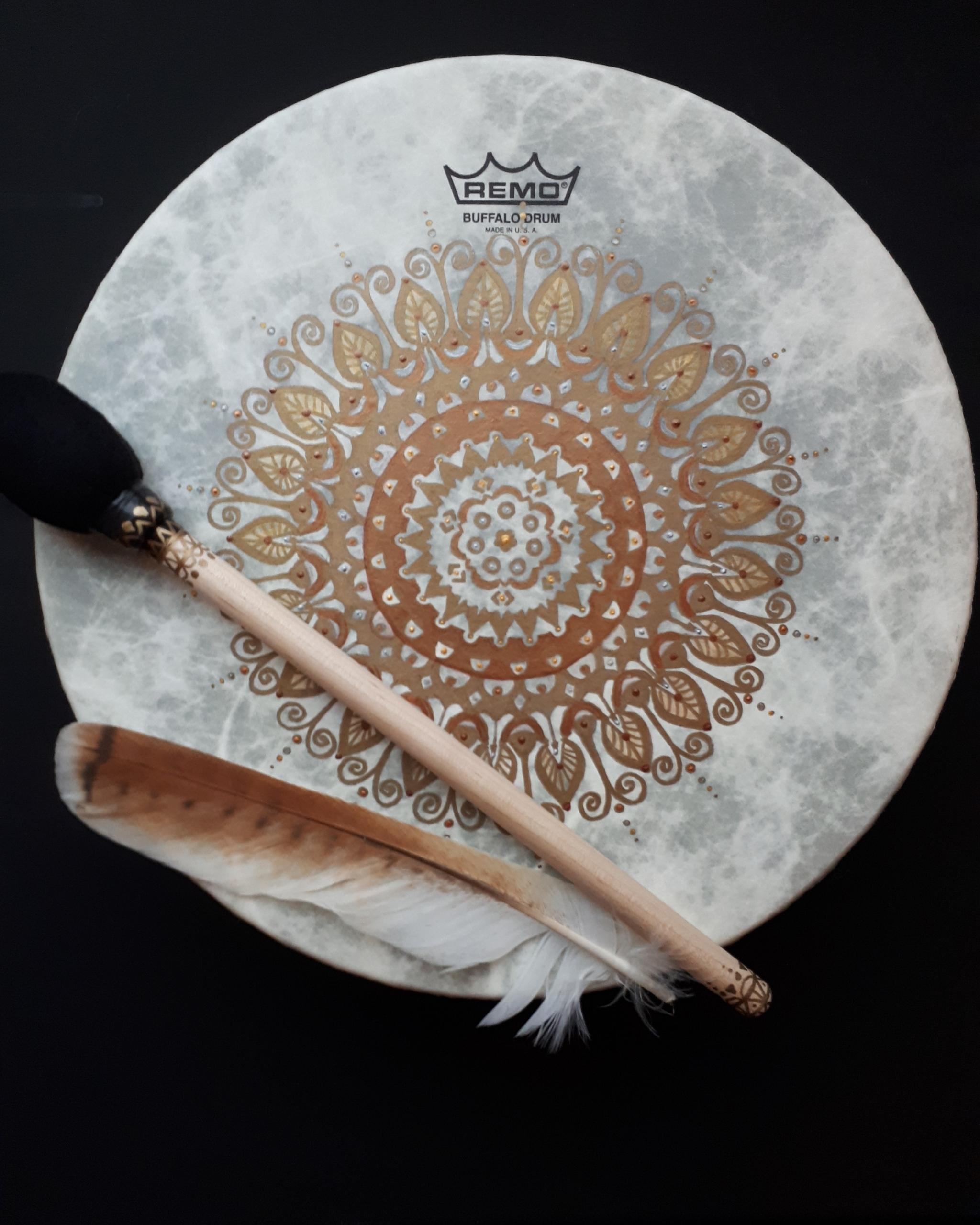 Gold Mandala Drum