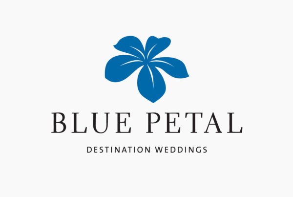 Blue Petal Destination Weddings Logo by HCD