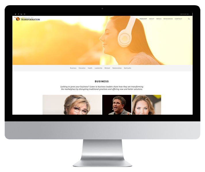 Leaders of Transformation Website by HCD