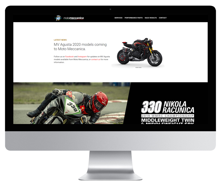 Moto Meccanica Website by HCD