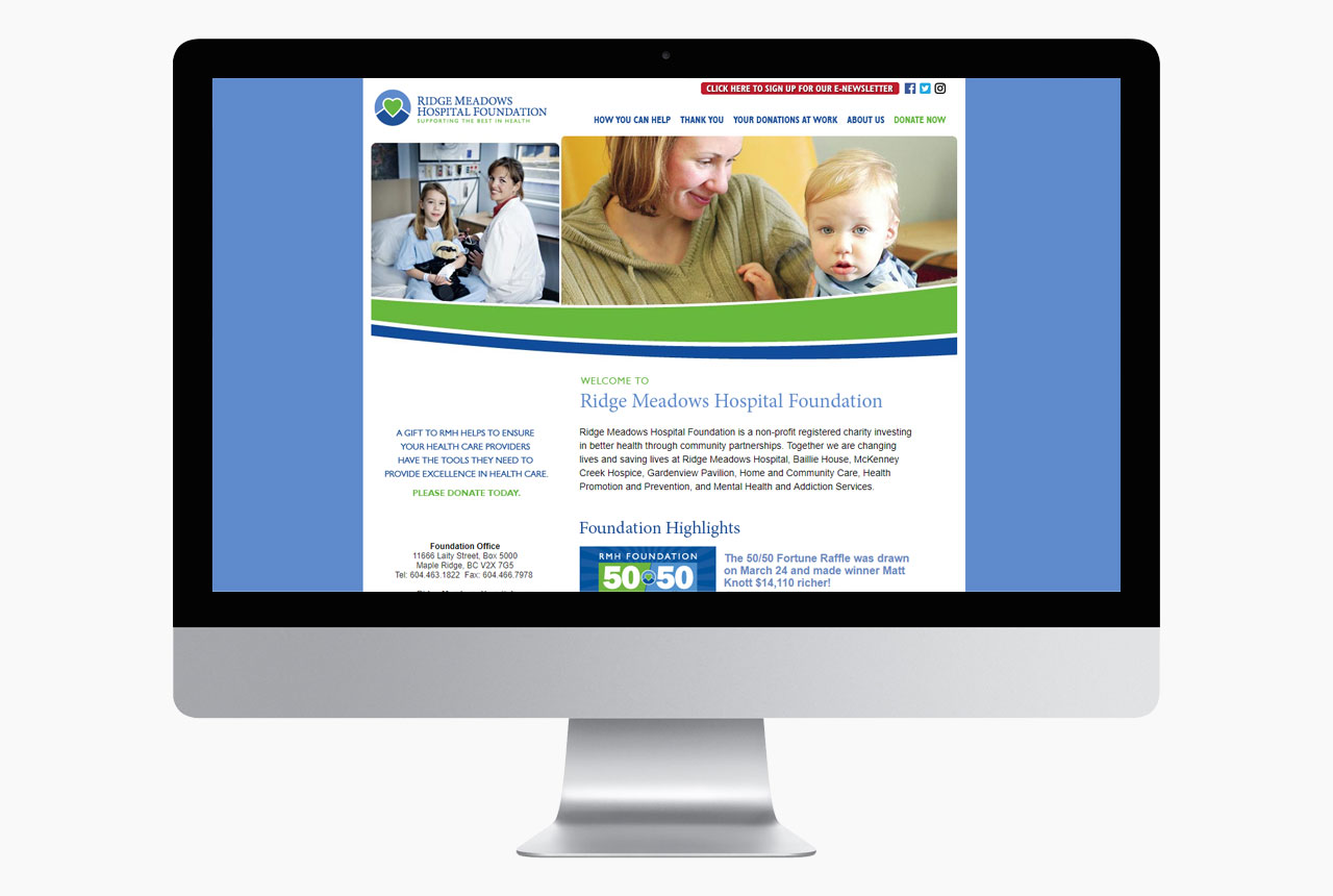 RMHF Website by HCD