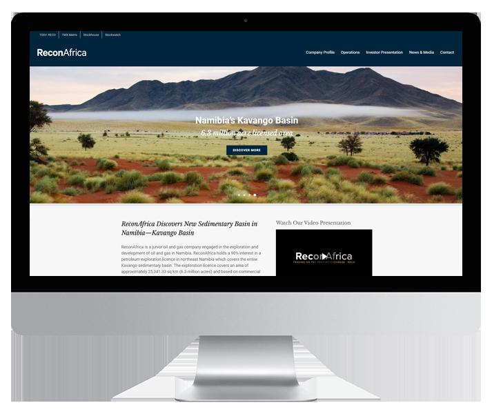 ReconAfrica Website by HCD