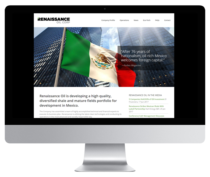 Renaissance Oil Website by HCD