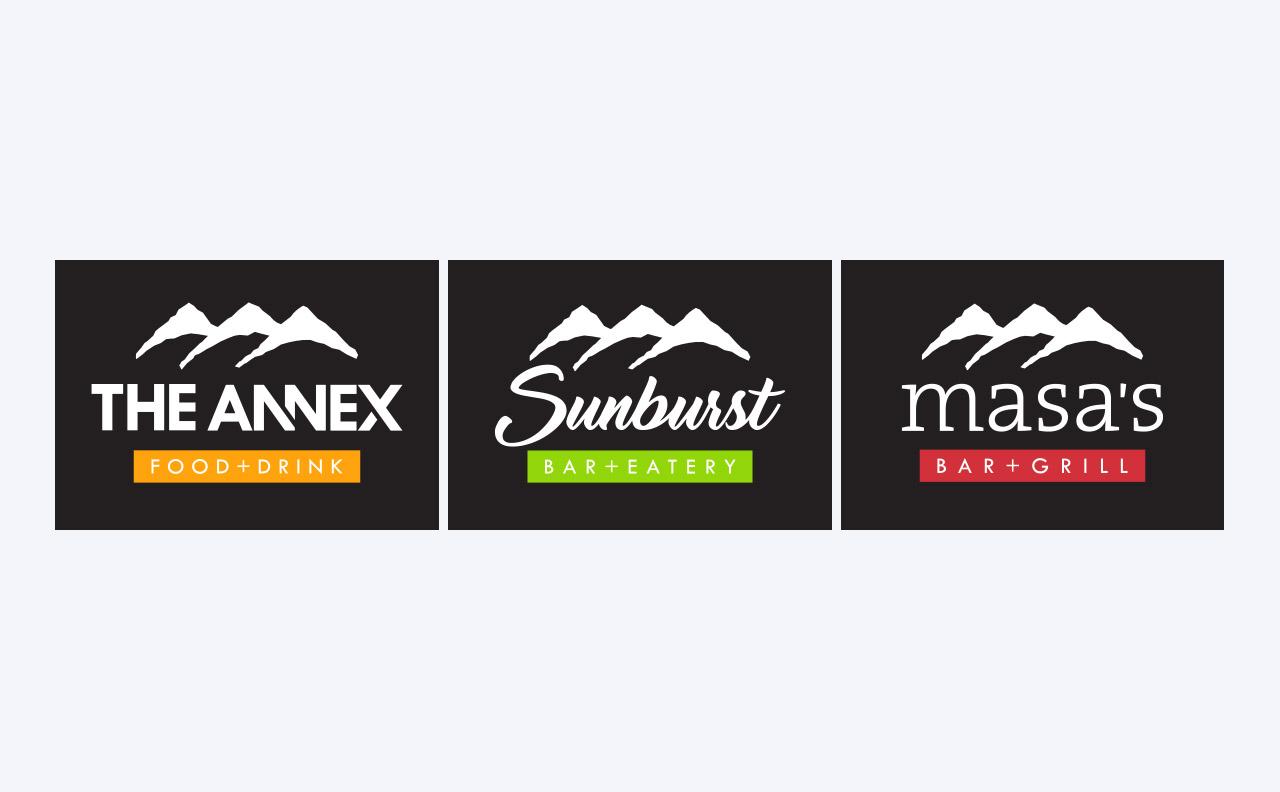 Sun Peaks Food and Beverage Logos by HCD