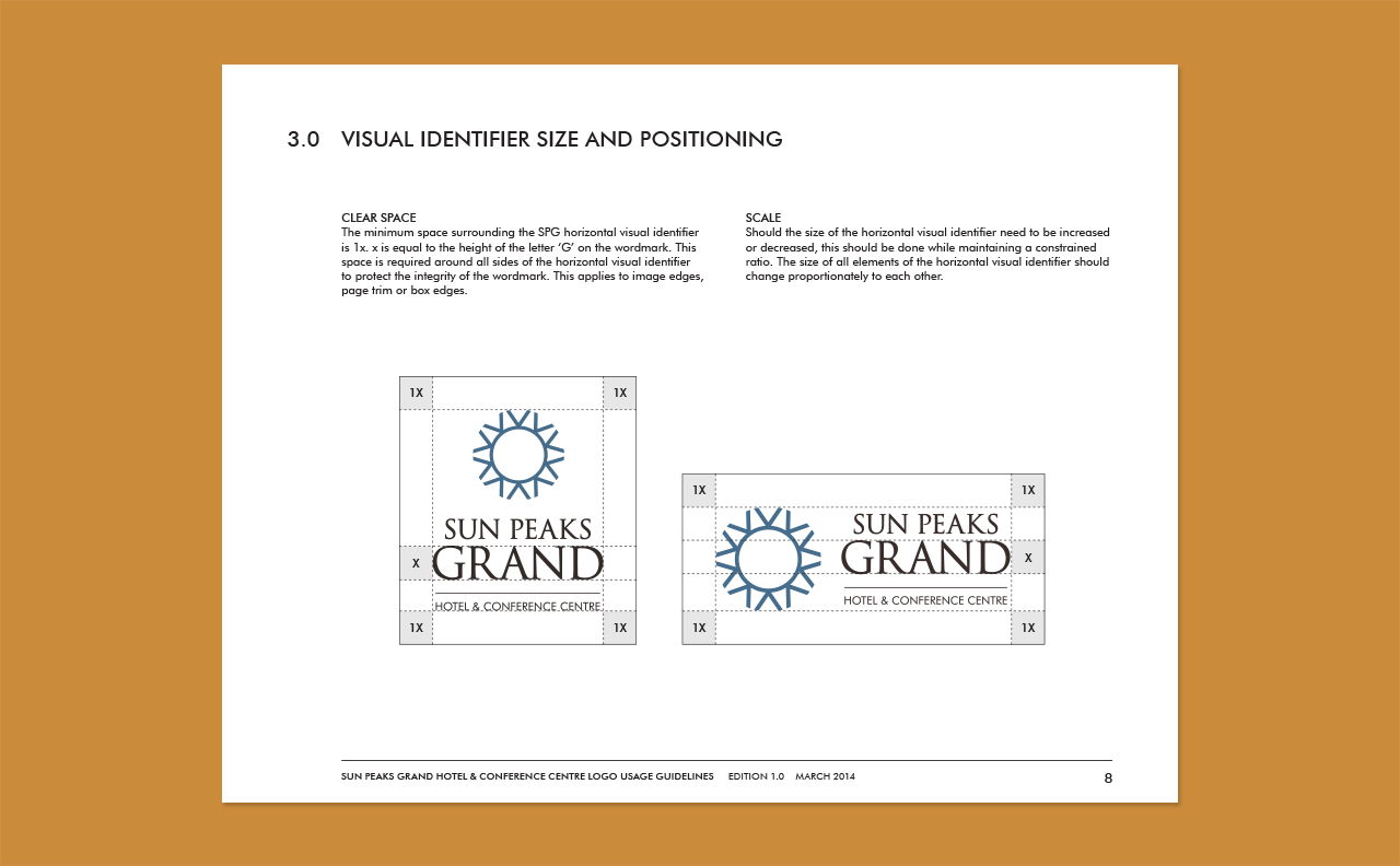 Sun Peaks Grand Hotel Logo Guidelines by HCD