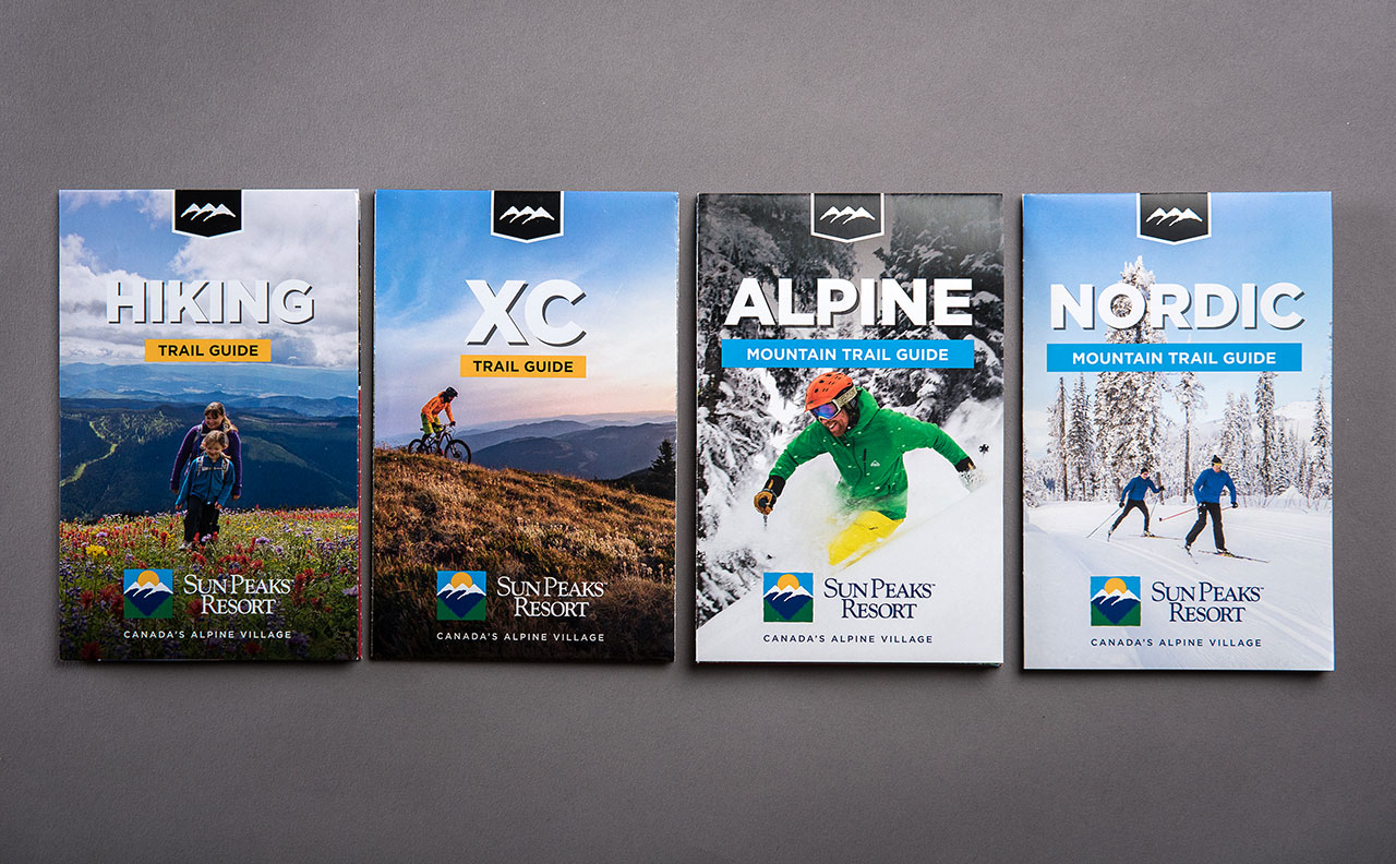 Sun Peaks Resort Trail Map Covers by HCD
