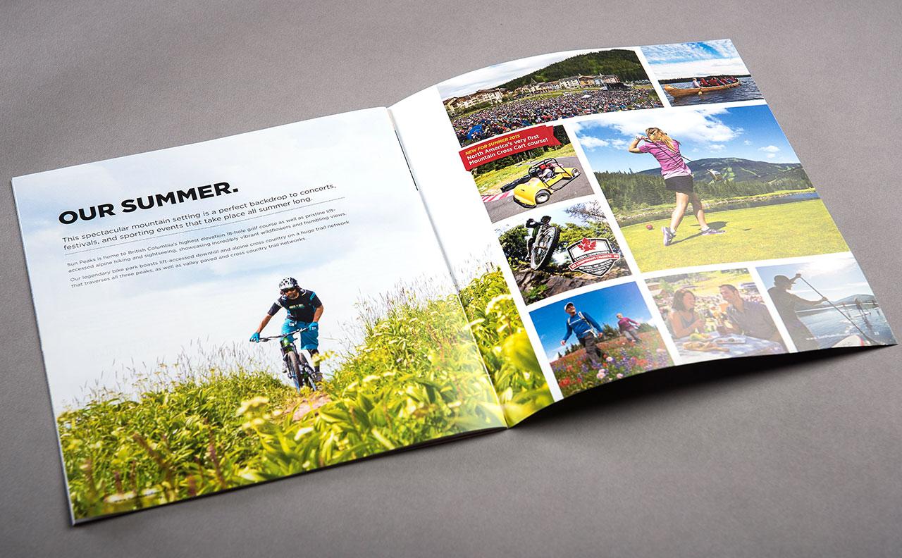 Sun Peaks Resort Winter Brochure Summer Spread by HCD