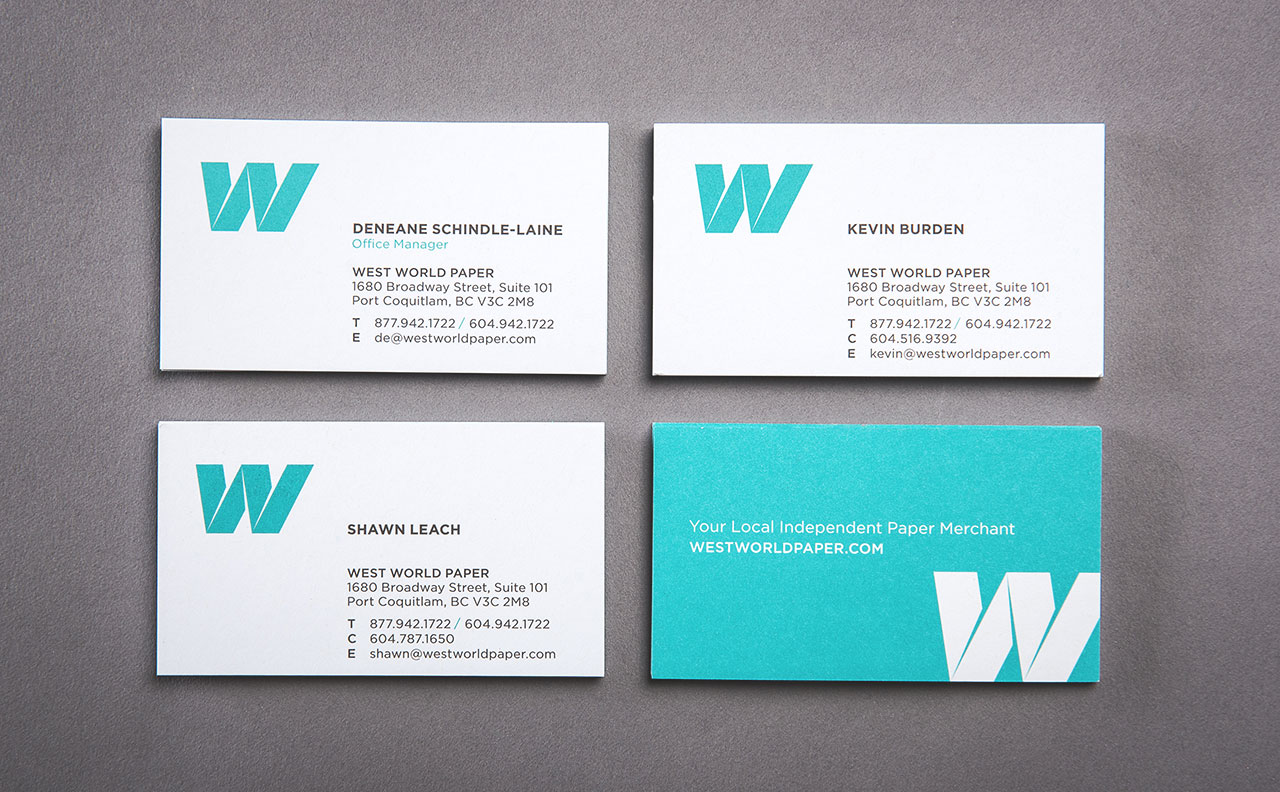 West World Paper Business Cards by HCD