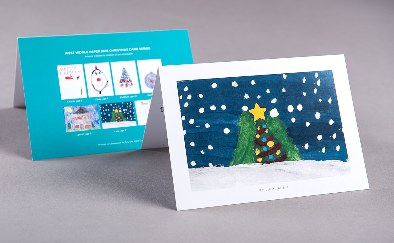 West World Paper Christmas Cards by HCD