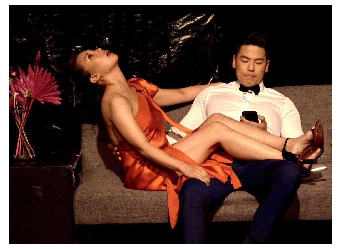 Rich Ting (Action Star in Asia) and Jeannie Lee in a scene from Crazy Rich Asians