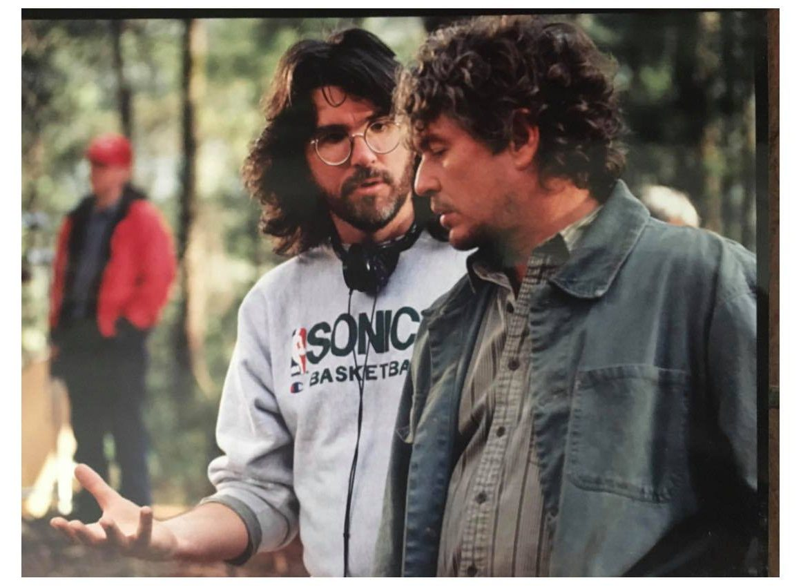 Tab Murphy directing actor Tom Berenger from the screenplay he wrote, Last of the Dogmen