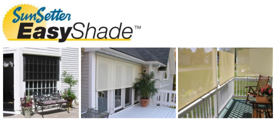 Sunsetter easy shade ABC Windows And More sunsetter retractable awnings and shades toledo ohio