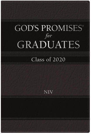 God's Promises for Graduates book - Black cover - can add imprint on cover
