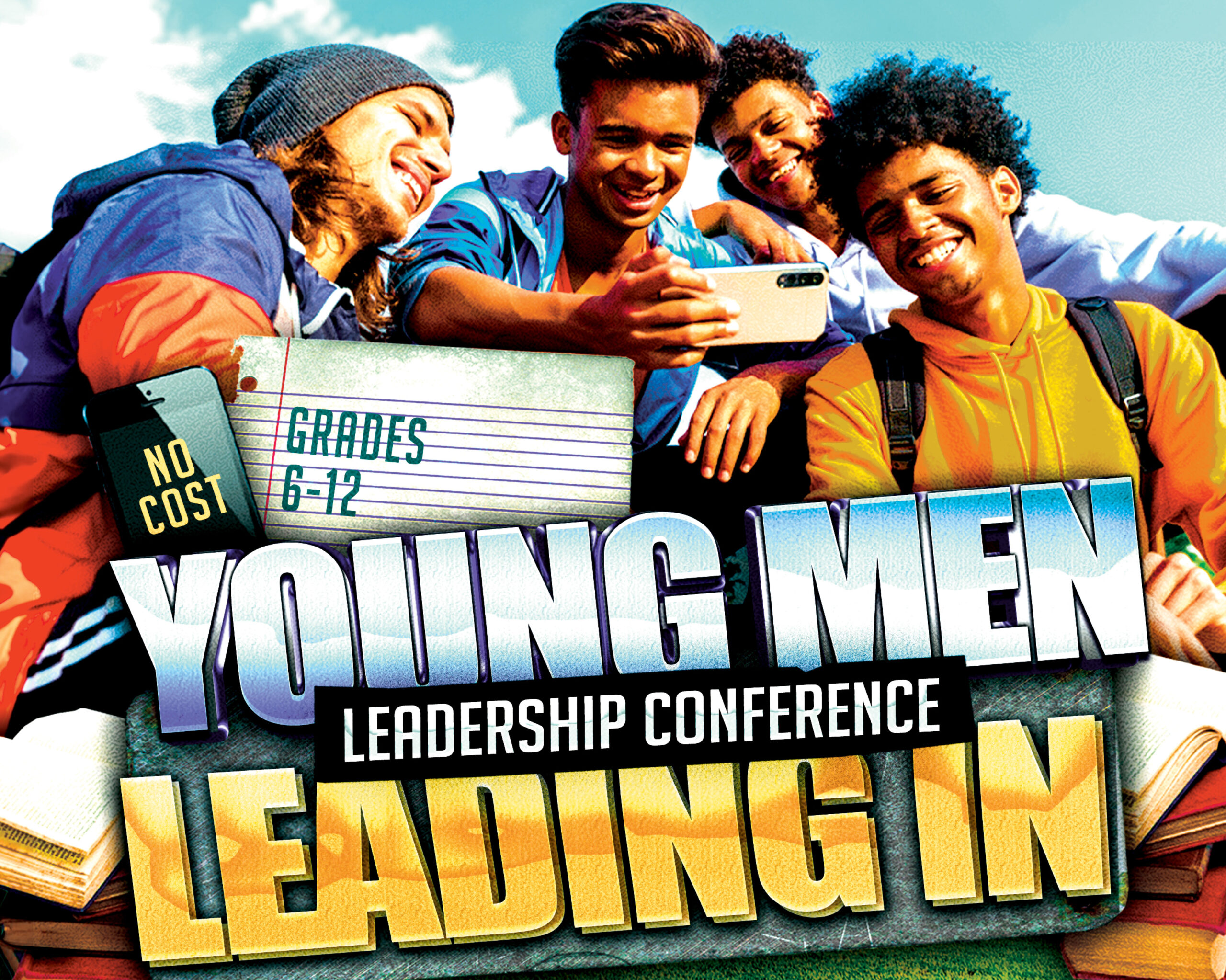 young men leading in leadership conference