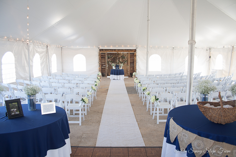 Tent Wedding Ceremony and Reception