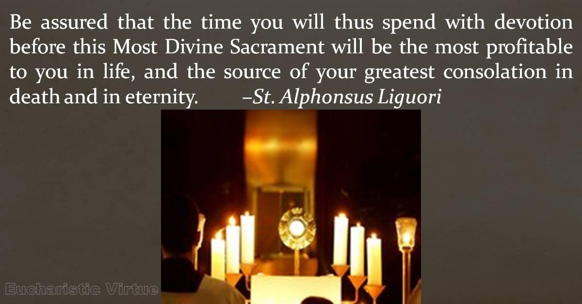 Eucharistic Adoration Quote