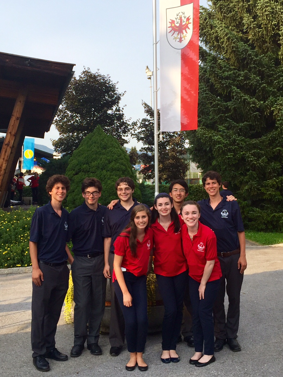 Country Day students at the final concert of the trip, in Westendorf, Austria.