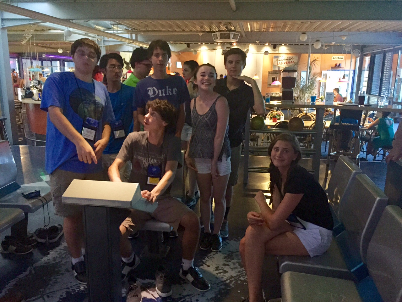 Celebrating American independence with some Fourth of July bowling in Rosenheim, Germany.