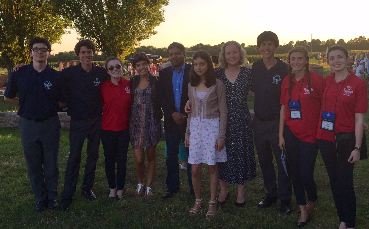 With Lisa Shah (fourth from left: LCDS German exchange student) and her family at a concert in Germany.