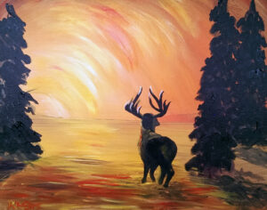 Sunset Elk @ Tipsy Brush