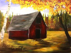 Fall Barn @ Tipsy Brush