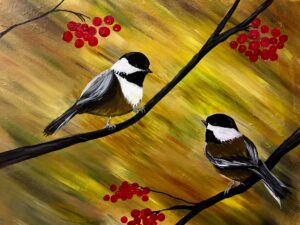 Two Chickadees at The Springs Living, Whitefish! @ The Springs Living
