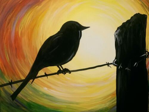 Barbed Wire Blackbird