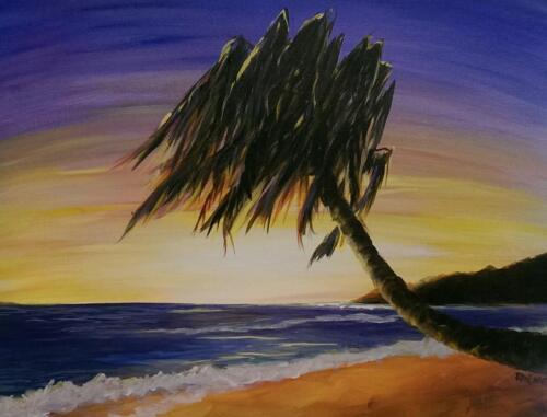 Palm Paradise at Sunset