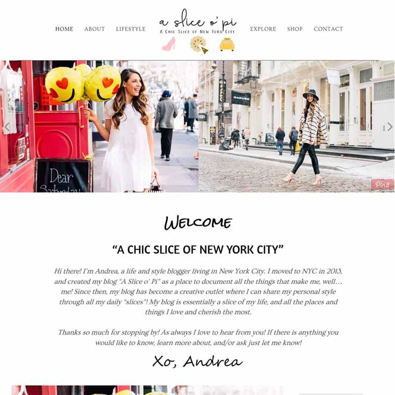 A Slice o' Pi Website Design Home Page | GET FOUND ONLINE