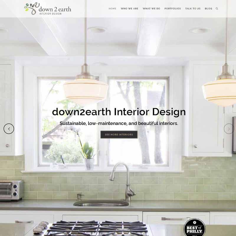 down2earth Interior Design Website Design Home Page   GET FOUND ONLINE