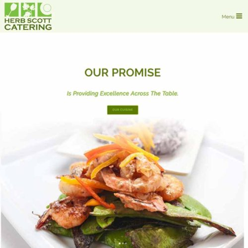 Herb Scott Catering Website Design Home Page | GET FOUND ONLINE