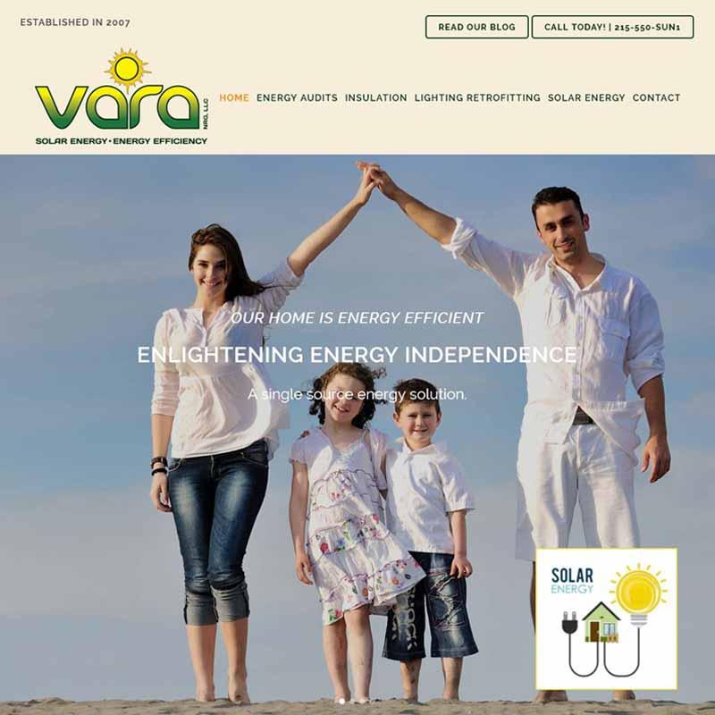 Vara NRG Website Design Home Page   GET FOUND ONLINE