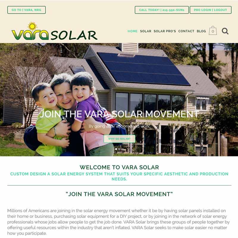 Vara Solar Website Design Home Page   GET FOUND ONLINE