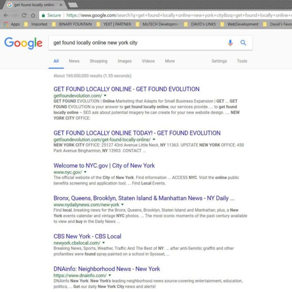 Google Rankings | GET FOUND EVOLUTION | NYC 2