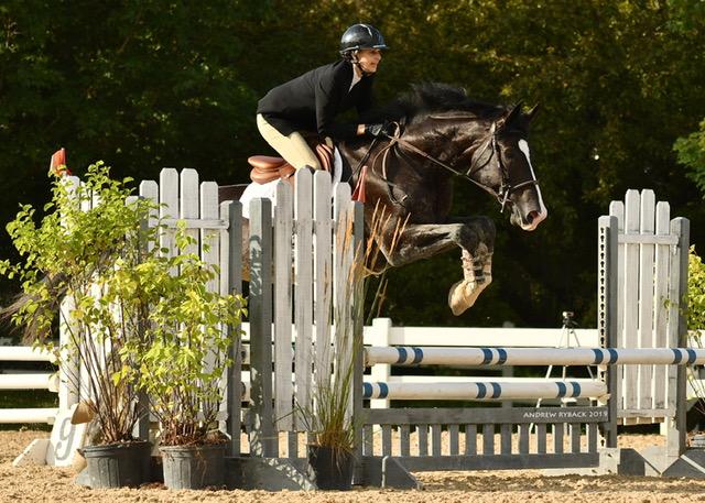 Rachel Cyrus riding Glory PW