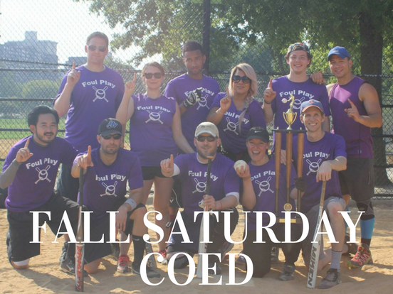 Fall – Saturday Coed League