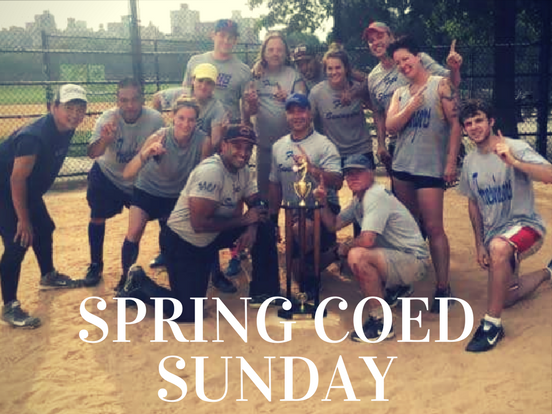 Spring – Sunday Coed League