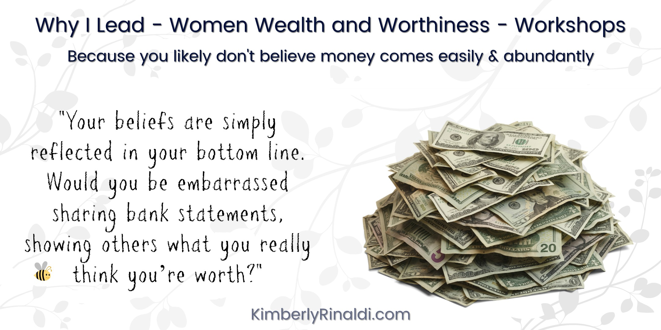 money, money mindset, business advice, speaker author expert with Kimberly Rinaldi
