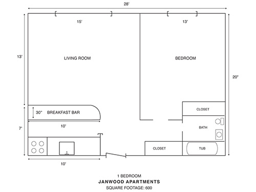 1BR Floorplan