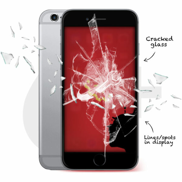 iPhone 6 Plus Cracked Screen Repair
