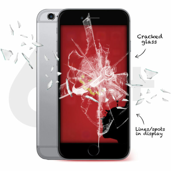 iPhone 6S Plus Cracked Screen Repair