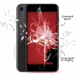 iPhone 8 Cracked Screen