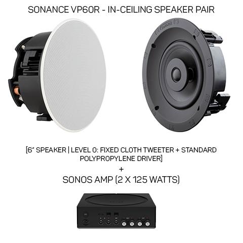 SONOS Amp + Sonance VP6OR
